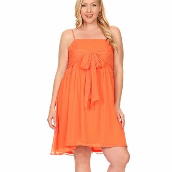 C.O.C Dresses | Coral Dress Plus Size | Poshmark